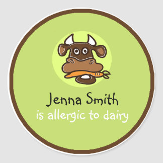 Dairy Allergy Customisable Sticker