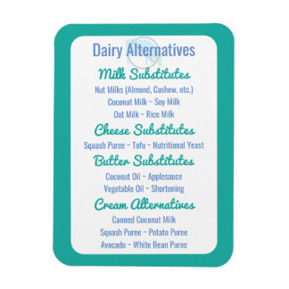 Dairy Alternatives Reference Dairy Substitutes Rectangular Photo Magnet