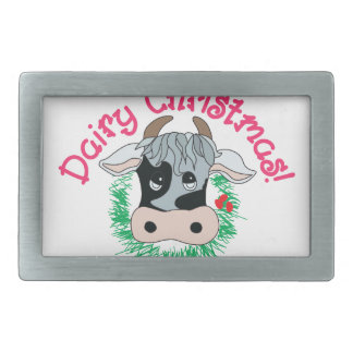 Dairy Christmas Belt Buckle