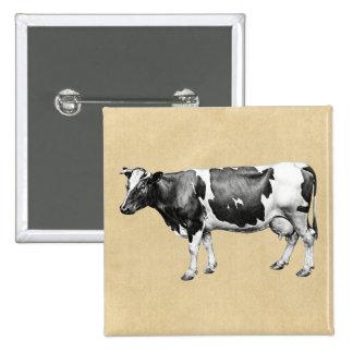 Dairy Cow 15 Cm Square Badge