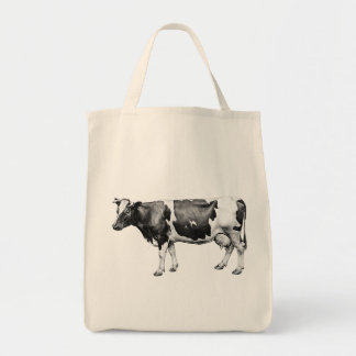 Dairy Cow Grocery Tote Bag