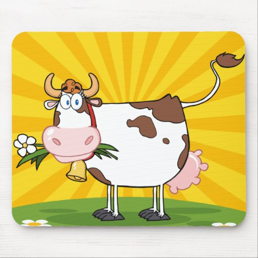 Dairy cow mouse pad zazzle