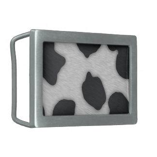 Dairy Cow Print Belt Buckles