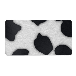 Dairy Cow Print Shipping Label