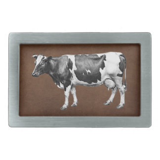 Dairy Cow Rectangular Belt Buckle