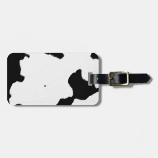 Dairy Cow Skin Luggage Tag