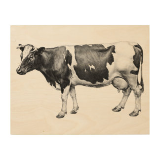 Dairy Cow Wood Wall Art