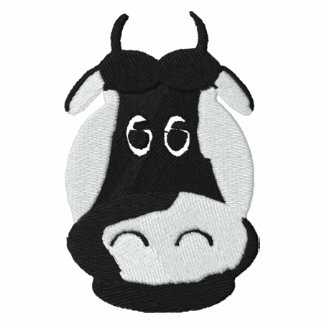 Dairy Cows Head Embroidery Design 2 Embroidered Shirts