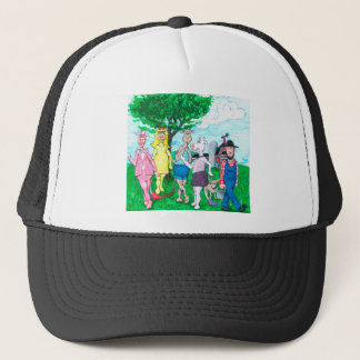 Dairy Cows Wearing Street Clothes Trucker Hat
