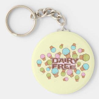 Dairy Cream Ice Cream Basic Round Button Key Ring