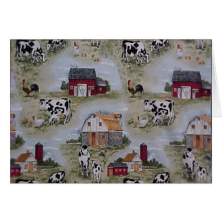 Dairy Farm Cows Holiday/Thank you/Greeting Card