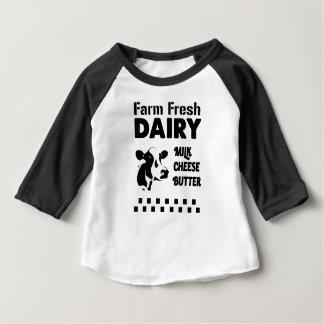 Dairy farm fresh, milk cheese butter baby T-Shirt