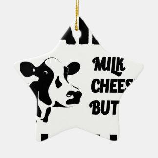 Dairy farm fresh, milk cheese butter ceramic star decoration