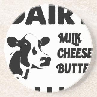 Dairy farm fresh, milk cheese butter coaster