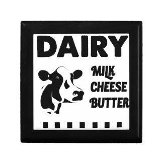 Dairy farm fresh, milk cheese butter gift box