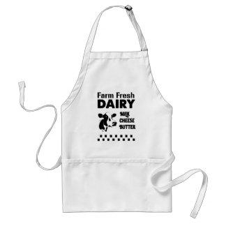 Dairy farm fresh, milk cheese butter standard apron