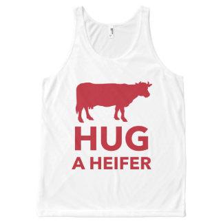 Dairy Farm Hug a Heifer Funny All-Over Print Tank Top
