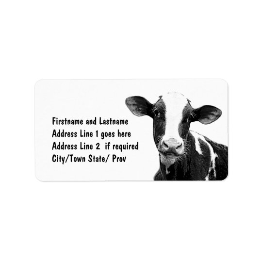 Dairy Farmer Customised Cow Label