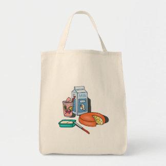 dairy foods grocery tote bag