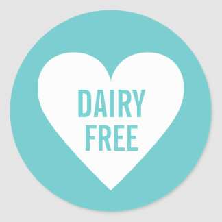 Dairy Free Allergy Safe Culinary Label