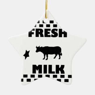 Dairy fresh cow milk ceramic star decoration