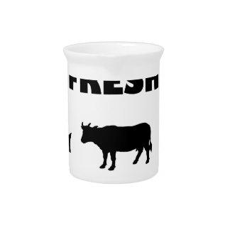 Dairy fresh cow milk pitcher