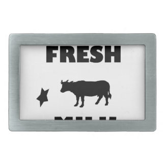 Dairy fresh cow milk rectangular belt buckle