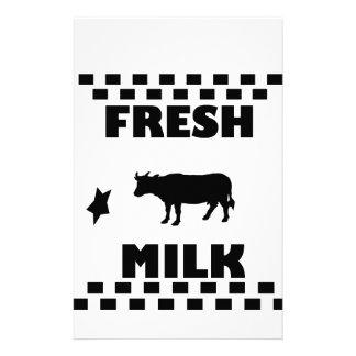 Dairy fresh cow milk stationery