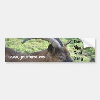 Dairy goat advertising sticker bumper sticker