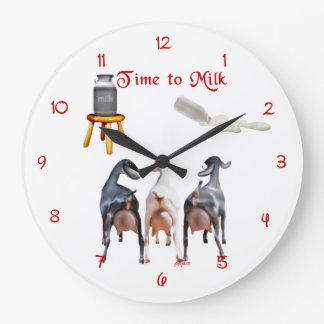 Dairy Goats Milking Wall Clock