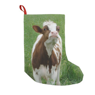 Dairy Milk Cow on the Farm Small Christmas Stocking