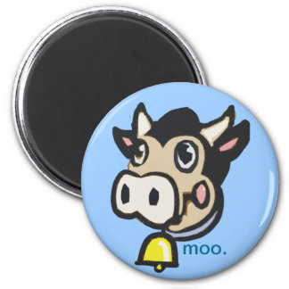 Dairy Moo Cow Country Pop Art - 6 Cm Round Magnet