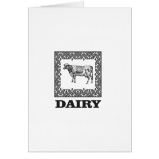 Dairy prize card