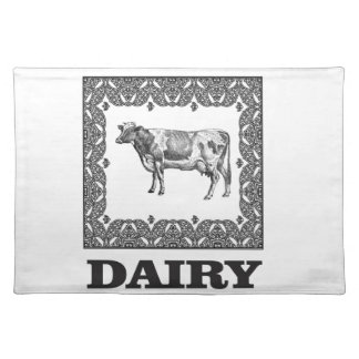 Dairy prize placemat