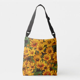 """""""DAISIES"""" ALL-OVER PRINT CROSS BODY BAG"""