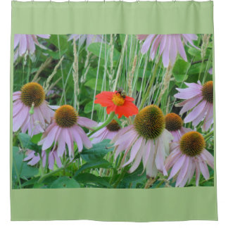 Daisies and Bumblebee Shower Curtain