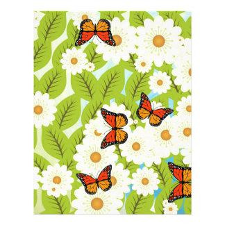 Daisies and butterflies 21.5 cm x 28 cm flyer