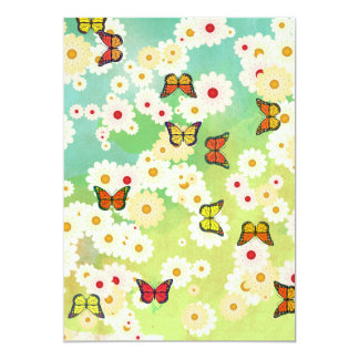 Daisies and butterflies card