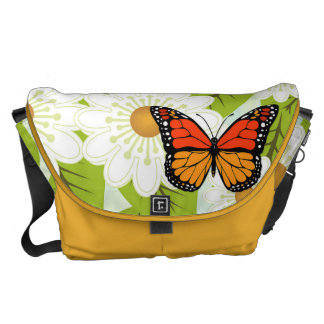 Daisies and butterflies courier bags