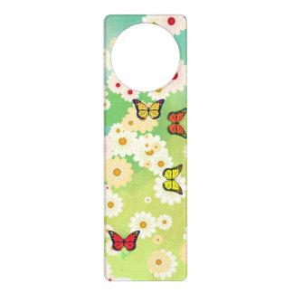 Daisies and butterflies door hanger