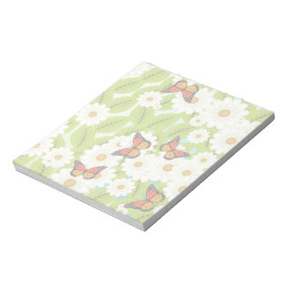 Daisies and butterflies notepad