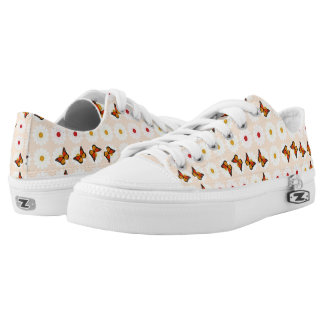 Daisies and butterflies printed shoes