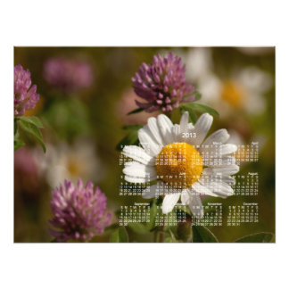 Daisies and Clover; 2013 Calendar Photo Print
