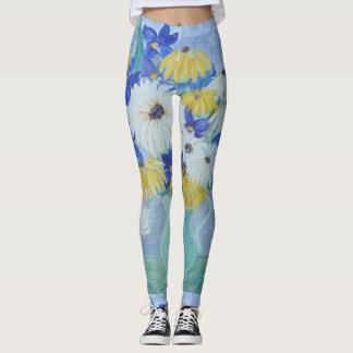 Daisies and Iris Leggings