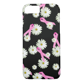 Daisies and Pink Ribbons iPhone 7 Case