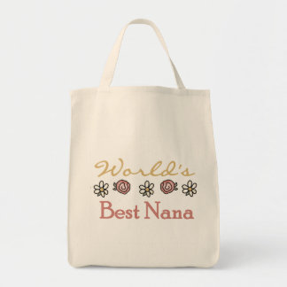 Daisies and Roses Worlds Best Nana Tote Bag