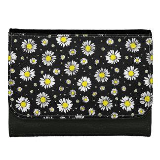 Daisies - Black Floral Wallet