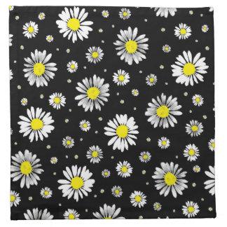 Daisies - Black Napkin