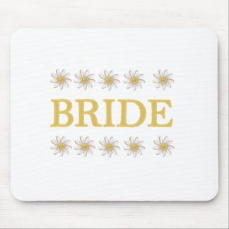 Daisies Bride Mouse Pad