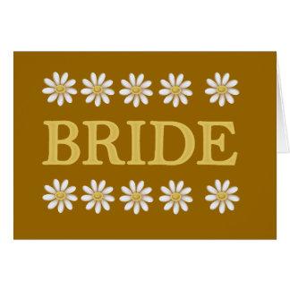 Daisies Bride T-shirts and Gifts Card